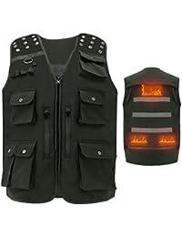 Vinmori USB Vest Chaleco de Pesca con Calefacción g Chaleco de Viaje para Pesca, Deportes