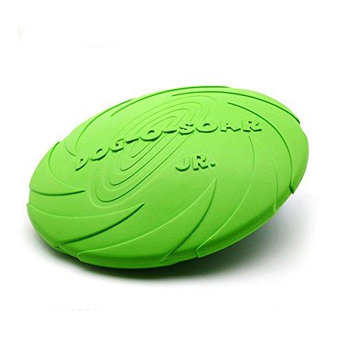 Dax mozzo-Volante giocattolo per cani in Silicone di alta qualità, in gomma morbida resistente, con animali, da mordere Frisbee Soar Flyer