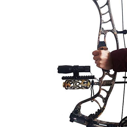 WQ-HUNTING, Ourpgone Compoundbogen Laufhalterung für Laservisier & Taschenlampe Night Hunter Bogenschießen Shoot Target Night Hunting Neu (Color : Black)
