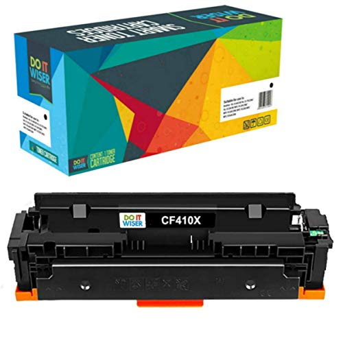 Do it Wiser cartucho compatible con HP Color Laserjet Pro M477fnw toner HP 410X M452dn M452dw M477fdn M477fdw M452nw M377 410A CF410X (Negro)