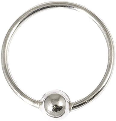 Único genuino plata de ley pendientes o nariz anillo aro. H21:–Calibre 0,8mm diámetro interno. 10mm.