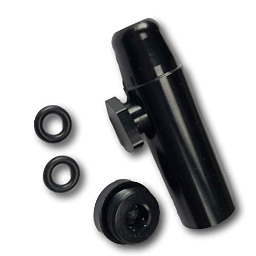 EKNA Schnupftabakspender & Dosierer für Schnupftabak schwarz | Snuff Dispenser Snorter Rocket | Aluminium ...