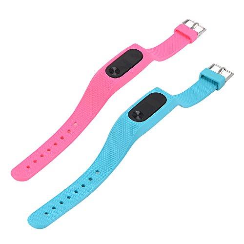 FUNKID para Xiaomi 2 correa de reloj elegante reemplazo de bandas coloridas con hebilla de metal (2en1 Paquete)