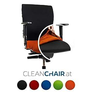 CLEANCHAIR Bürostuhlbezug für die SITZFLÄCHE (Größe Standard) – Sitzflächengröße ca. 40-52 cm Breite und ca. 40-52 cm…