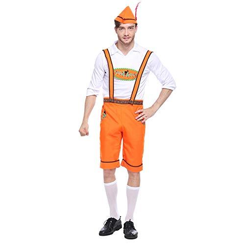 Bayerische Adult Kostüm Paare Dame Männer Herr Oktoberfest Outfit Deutsch Lederhosen Fancy ()