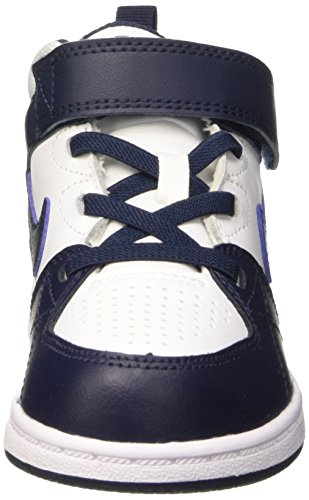 Nike Priority Mid Td, Chaussures Mixte Bébé Blanc / Noir (Blanc / Obsidian-obsidienne)