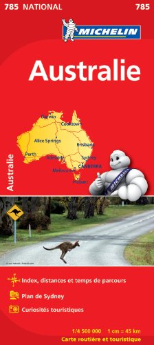Carte NATIONAL Australie par Collectif Michelin