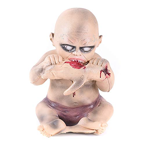 CCNIU Halloween Ghost Kleinkinder und Kinder Essen Hand Kammer Scary Spukhaus Ghost Baby Ornamente Dekorative Requisiten Horror Szene Layout
