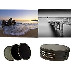 Nouveau: Haida PRO II Digital MC (multicouches) - Ensemble de Filtres à densité ND8x, ND64x, ND1000x de 77mm y compris un conteneur de filtres avec un dispositif de protection des filtres et des bouchons d'objectif Pro