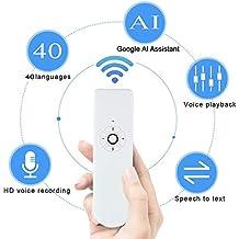Sprachübersetzer-Gerät, Tragbarer, intelligenter Instant elektronisch Zwei-Wege-Sprachübersetzer Support 40 Sprachen mit AI Assistant für Reisen, Business, Geschenk Geben und Lernen