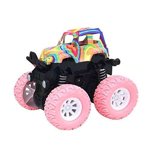 r Monster Truck rutschfest Auto Spielsachen Inertia Starker Halt Auto Solide Puppen Spielzeug - Rosa ()
