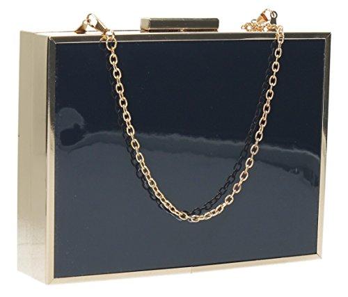 SwankySwans-Kate Box in pelle Holograph Frizione, blu