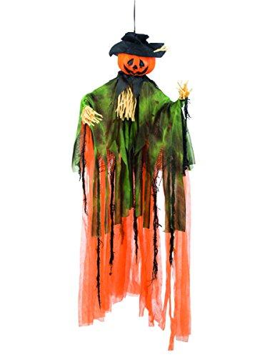 Décoration à suspendre citrouille épouvantail 1 m Halloween - taille - Taille Unique - 231556