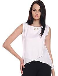 e1f7194badc1d Itsyor Sleeveless White Color Casual wear Women s top