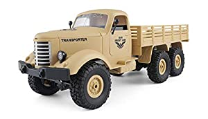 Amewi 22367 U.S. Militär Truck 6WD - Camión Militar (Escala 1:16), Color Amarillo
