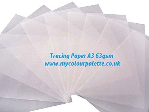 Gateway 63 g/m², DIN A3 Transparentpapier, durchsichtig, 50 Stück, Transparent
