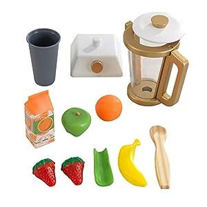 KidKraft - Kit de juguetes de madera para hacer batidos para cocina de juguete (accesorio para cocinas de juguete), Color Metálico (53537)