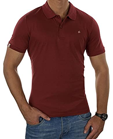 JACK & JONES Herren Poloshirt Jorperfect Polo Ss (XL, Rot (Rosewood Fit:SLIM))