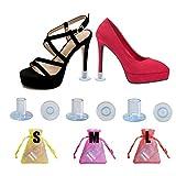 30 Pares Protectores Tacones Transparentes Protector de Tacón Alto Salvatacones para Hierba Tablones Guijarros Rejillas, 3 Tamaños Protectores Zapatos de Mujer para Razas Bodas Ocasiones Formales