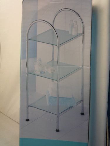 chrome-plate-bathroom-3-tier-frosted-glass-free-standing-storage-unit