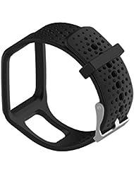 Bracelet de montre de rechange en silicone pour TomTom Multi-Sport/cardio Compatible Uniquement avec montre GPS TomTom Runner
