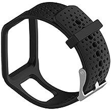 Ersatz Silikon Uhrenarmband für TomTom Multisport/Cardio GPS-Uhr TomTom Runner und mehr