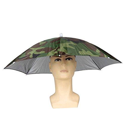 ELEGIANT Faltbare Sonnenschirm Regenschirm Hut Regenhut Sonnenhut für Outodoor Sport Golf Angeln Camping Mütze Kopfbedeckung - 2