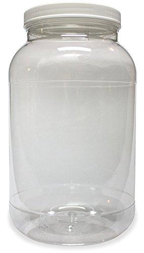 1L Kunststoff Jar, Weithals, Klar, mit gefüttert fresh Dichtung Deckel, bruchfest Behälter Aufbewahrung Pet 1BPA-frei 4Quart 128oz