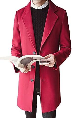 LOBTY Herren Winterjacke Männer Herren Jungen Wintermantel Lang Jack Anzug Casual Mantel Fleece Parka Warme Jacke Trenchcoat Elegant