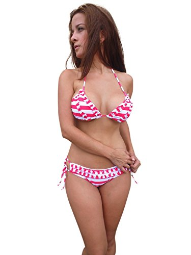 ingear 2pezzi Bikini Swimsuit Pink Stripes