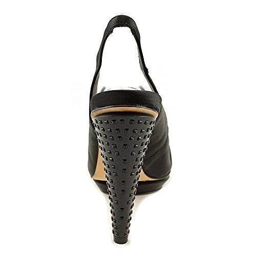 BCBG Max Azria Lady Satin Talons Compensés Black