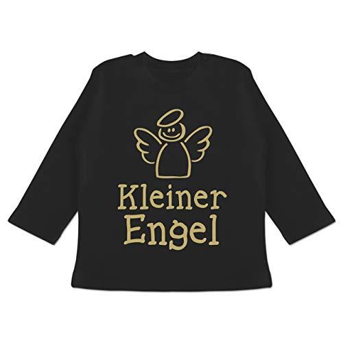 Bunt gemischt Baby - Kleiner Engel - 18-24 Monate - Schwarz - BZ11 - Baby T-Shirt Langarm (Womens Schwarzer Engel-flügel-shirt)