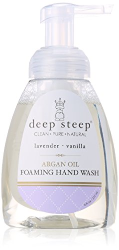 Deep Steep Classic Foaming Hand Wash, Lavender Vanilla, 8 Fluid Ounce -