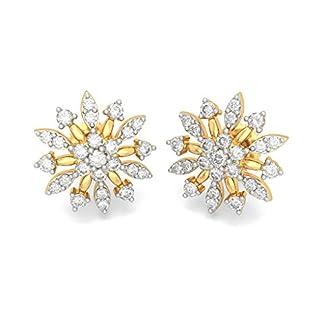 BlueStone 18K Yellow Gold and Diamond Gale Earrings