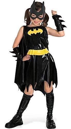 (Mädchen Offiziell Dc Comics Deluxe Batgirl Batman Halloween Büchertag Woche Film Comicbuch Kostüm Kleid Outfit 3-10 Jahre - Schwarz, 5-7 Years, Schwarz)
