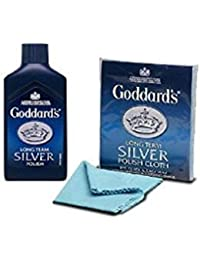 Goddards Polishing Kit Long Term Silver Polish Cloth and Silver Polish Cleaner JEWELLERY