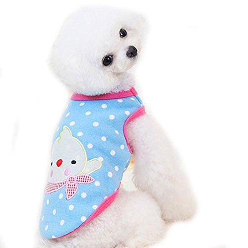 Saingace Hundbekleidung Hunde Kleider Haustier Kostüm Bekleidung Kleine Haustier Hundemantel Weste Welpen Winter Warm Fleece Kleidung (S, Blau)