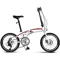 YEARLY Adultos bicicleta plegable, Bicicleta plegable estudiante Aleación de aluminio Shimano Velocidad 7 Frenos de