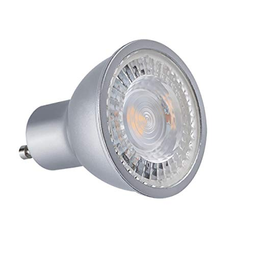 Spot led GU10 COB 7 watt - finition grise - Couleur eclairage - Blanc chaud 2700°K. Finition - Grise