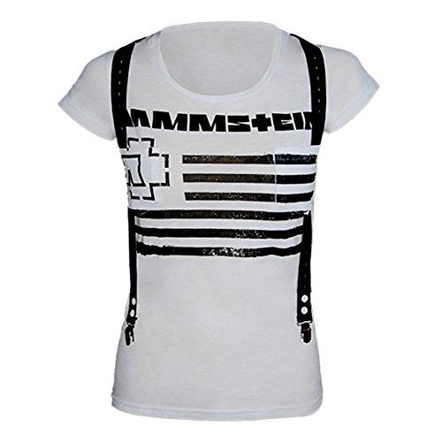 Rammstein, Frauen T-Shirt Suspender - S