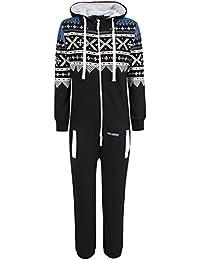 Unisex impresión para hombre Oska Aztec de agua con conector para cremallera con capucha con texto de pijama músculos Mono todo de una…