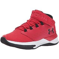 Under Armour UA BGS Get B Zee, Zapatos de Baloncesto para Niños, Rojo (Red), 38 EU