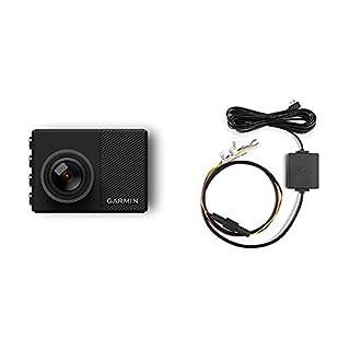 Garmin Dash Cam 65W Kamera - 2,1 MP Kamera mit 180° Weitwinkelobjektiv für Videoaufnahmen bis 1080p, mit 2 Zoll (5,08 cm) Farbdisplay & Dash Cam Parking Mode Cable Dash Cams