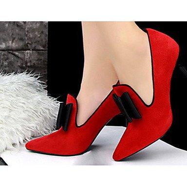 Moda Donna Sandali Sexy donna tacchi tacchi Estate Felpa casual Stiletto Heel Bowknot nero / rosa / rosso / grigio chiaro / Fucsia Altri gray