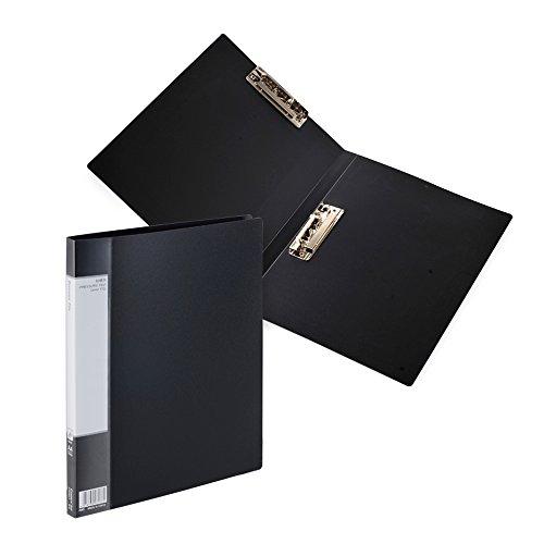 Datei Ordner Foolscap Klemmbrett Dokument Ordner mit Storage Holder, doppelte Clips Board Organizer Bürobedarf schwarz (Dekorative Ordner)
