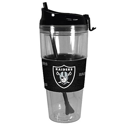 NFL Oakland Raiders Premium Tonal Straw Tumbler, 28-ounce
