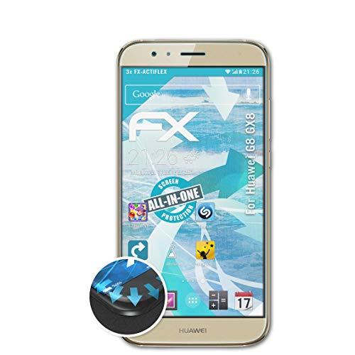 atFolix Schutzfolie passend für Huawei G8 GX8 / G7 Plus Folie, ultraklare & Flexible FX Bildschirmschutzfolie (3X)