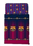 Asditex Juego de Sábanas del Futbol Club Barcelona FCB, Color Único, 3 Piezas, para Cama de 135cm.