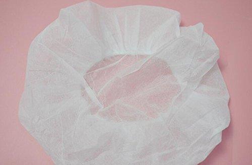 Famlon Einweg-Hut, Vlies, Weiß, 100 Stück