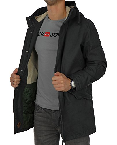 JACK & JONES Herren Jorbento Parka Jacket Schwarz ( Asphalt Fit: REG )